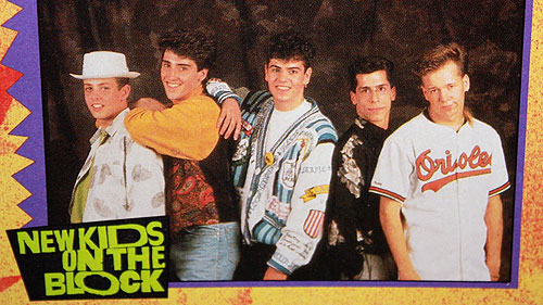 new kids on the block trading card