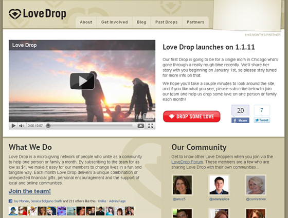 new Love Drop site
