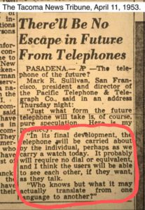 no escaping telephones