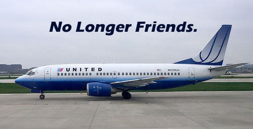 No longer friends, United Airlines