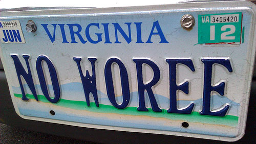 no worry license plate