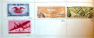 old air mail stamps