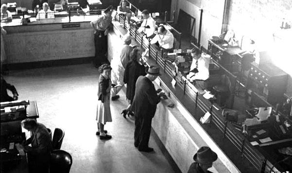 old bank tellers