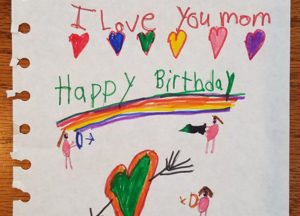 old birthday card to mom