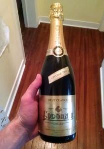 old bottle champagne