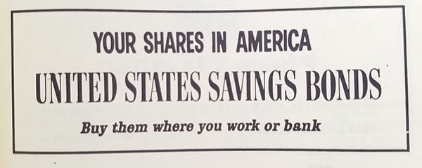 old savings bonds ad