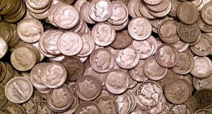 old silver dimes