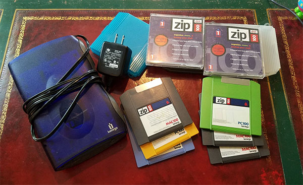 old zip disks and reader