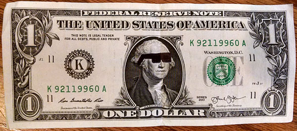 dollar bill glasses