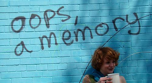 Oops, a memory - graffiti
