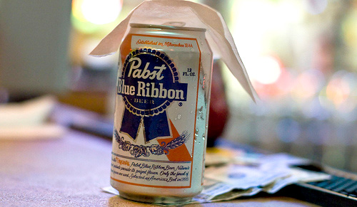 pabst beer on money