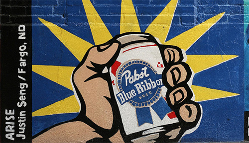 pabst pbr painted mural