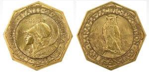 panama pacific gold commemorative coin