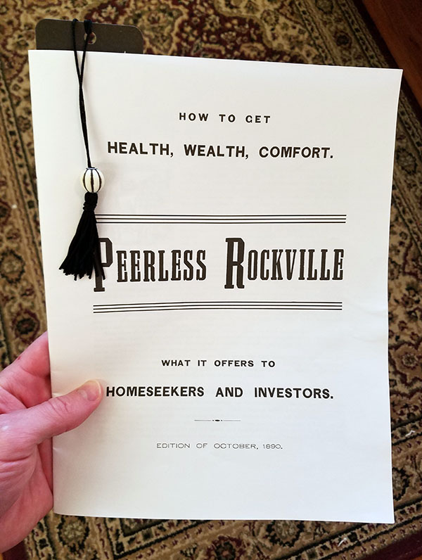 peerless rockville pamphlet 1890