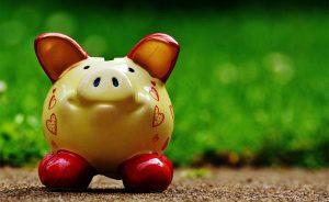 piggy bank hearts