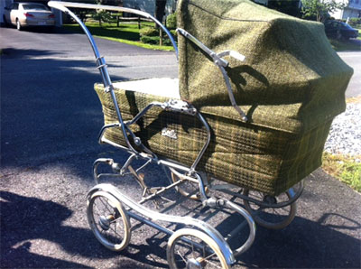 pimp antique baby stroller