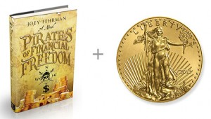 pirate book gold coin