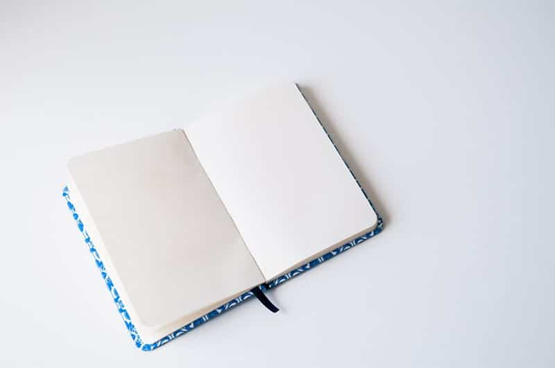 plain notebook