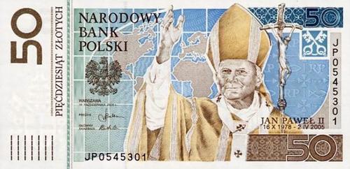 polish zloty 50 pope