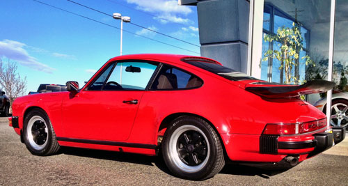 porsche 911 red 1984