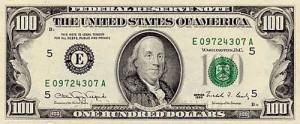 old 100 bill