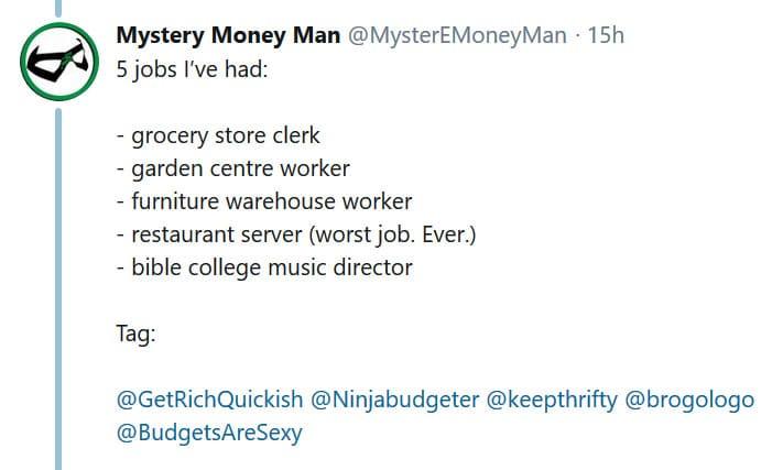 random jobs tweet