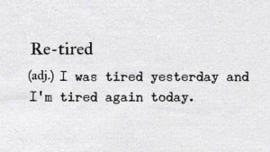re-tired definition