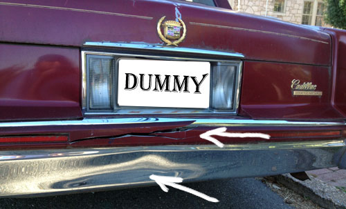 rear ended caddy dummy