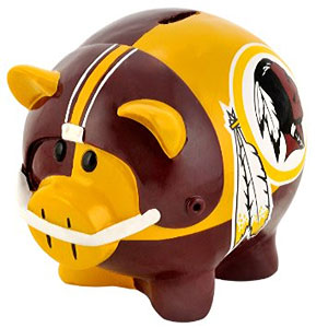 redskins piggy bank