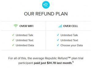 republic wireless refund plan