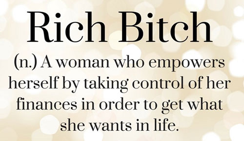 rich bitch means