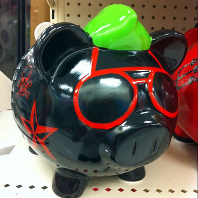 rock star piggy bank
