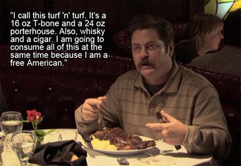 ron swanson steak