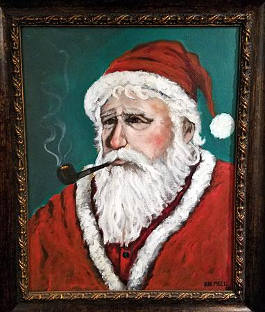 santa painting pipe