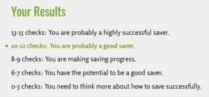 saver checklist key