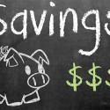 savings chalk board