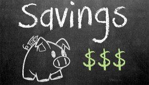 savings chalk board