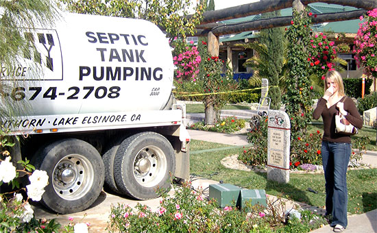 septic pump truck smelly