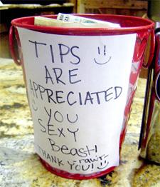 sexy tip jar