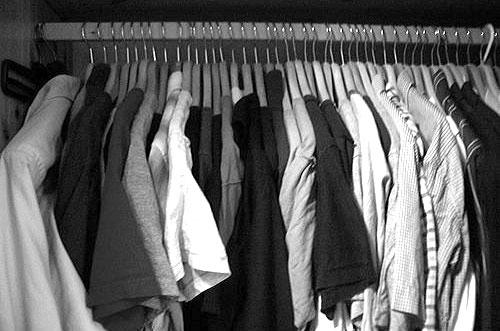 shirts closet b&w