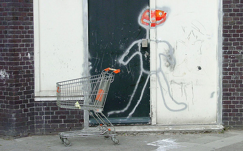 Shopping cart graffiti