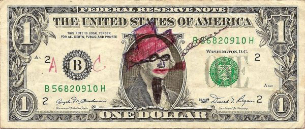 smoking pipe dollar bill