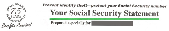 social security statement header