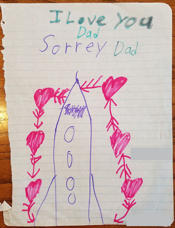 sorry dad card