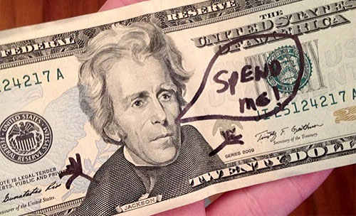 spend me $20 dollar bill