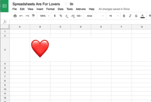 spreadsheets are for lovers