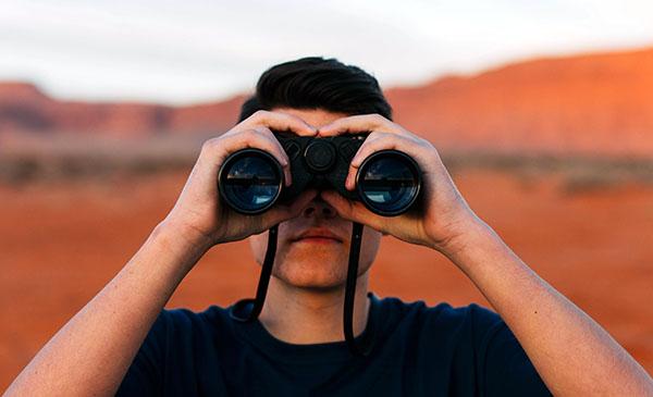 spaying - binoculars