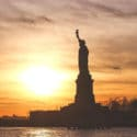 statue of liberty sunrise