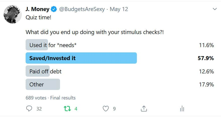 stimulus check poll