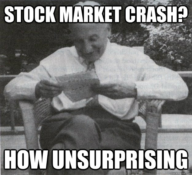 stock market crash no surprise